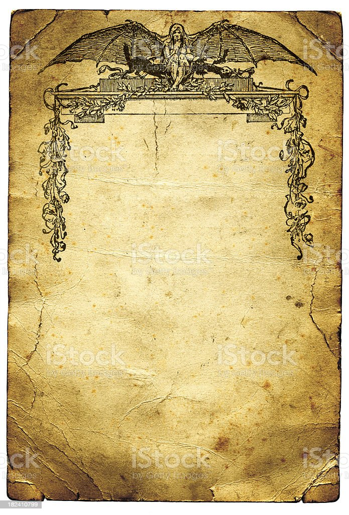 Gothic Horror Paper Background vector art illustration