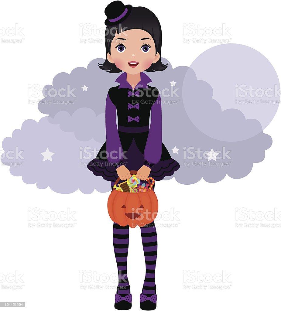 Gothic Lolita Halloween royalty-free stock vector art