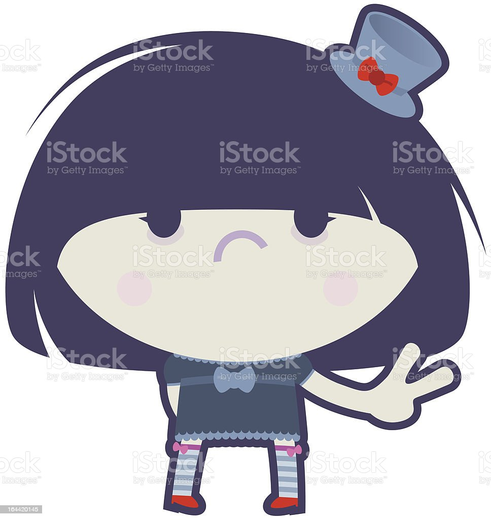 Gothic Lolita with Hat royalty-free stock vector art