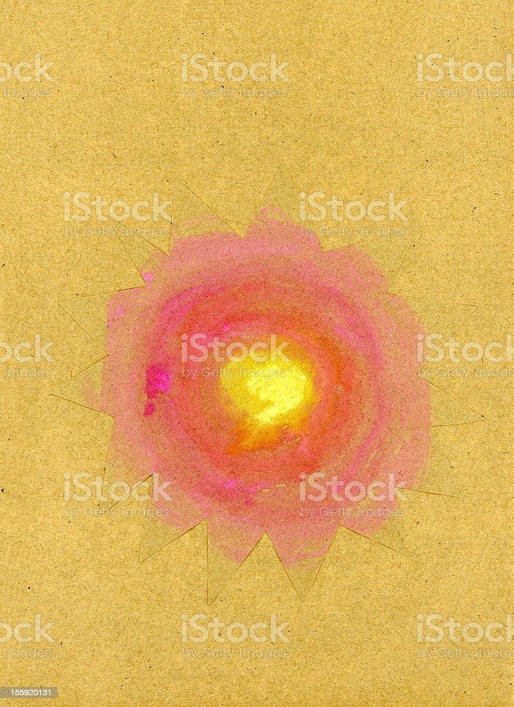 Gouache sun royalty-free stock vector art