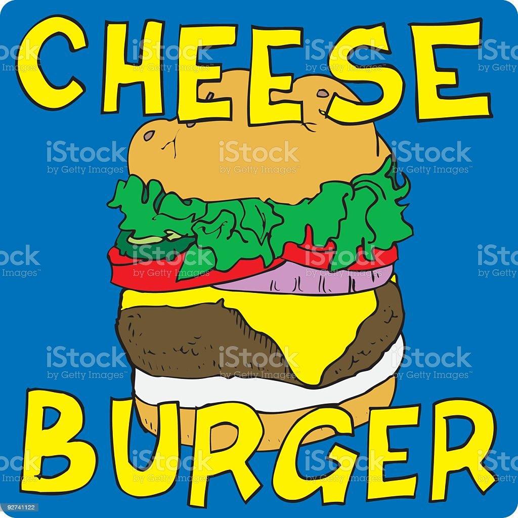 Gourmet Cheese Burger royalty-free stock vector art