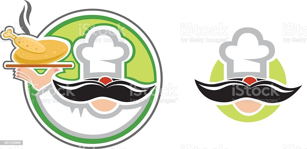 Gourmet Chef royalty-free stock vector art