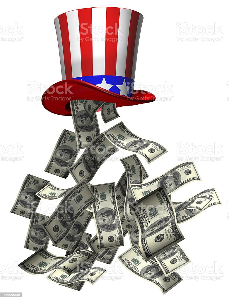 Government money royalty-free stock vector art