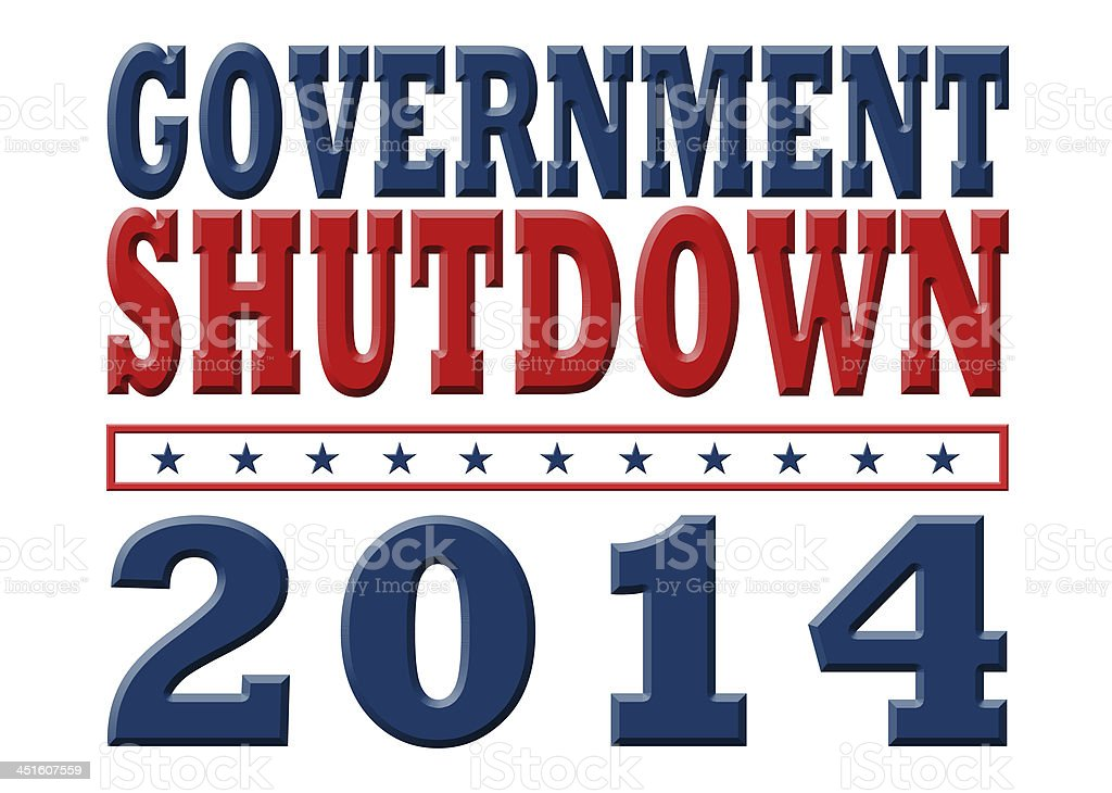 Government Shutdown 2014 royalty-free stock vector art