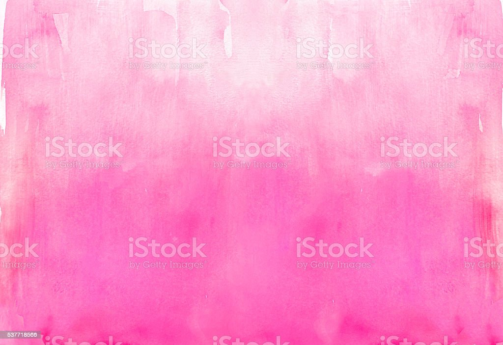 Graded watercolor wash background in pink tones vector art illustration