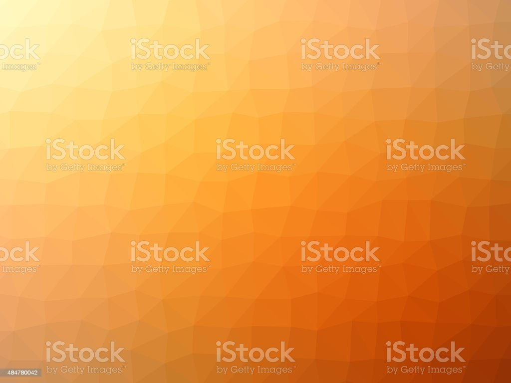 Gradient orange polygon shaped background vector art illustration