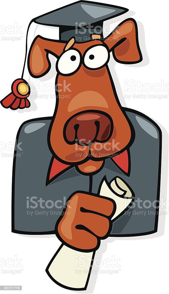 graduate dog royalty-free stock vector art
