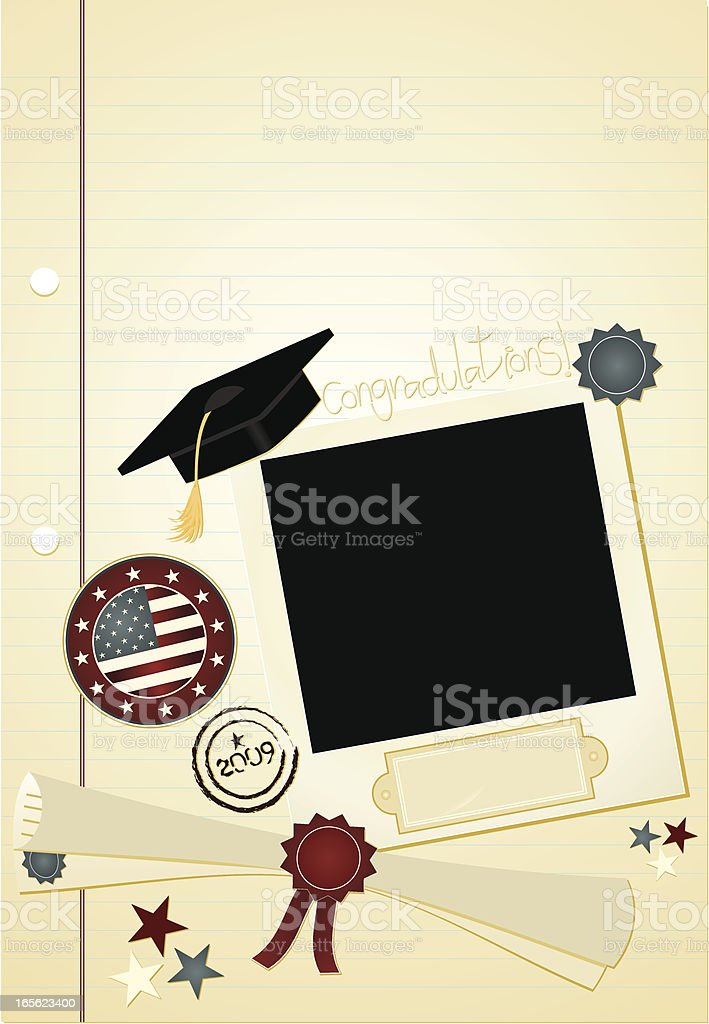 Graduation Page royalty-free stock vector art