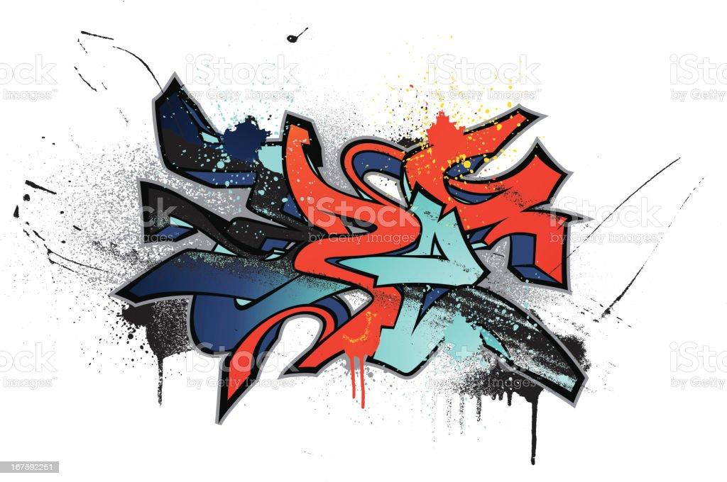 Graffiti Themed Illustration vector art illustration