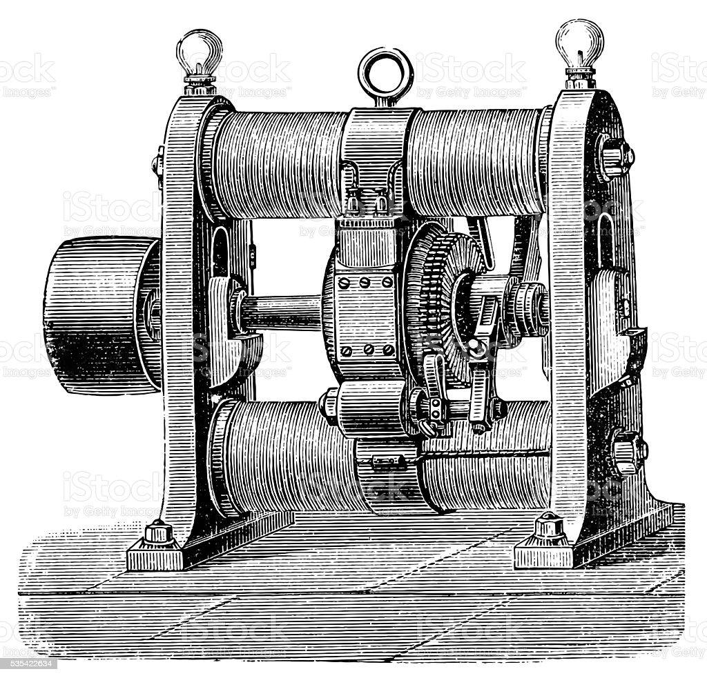 Gramme 1870 vector art illustration