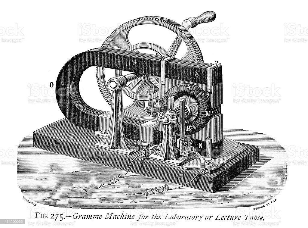 Gramme Machine vector art illustration