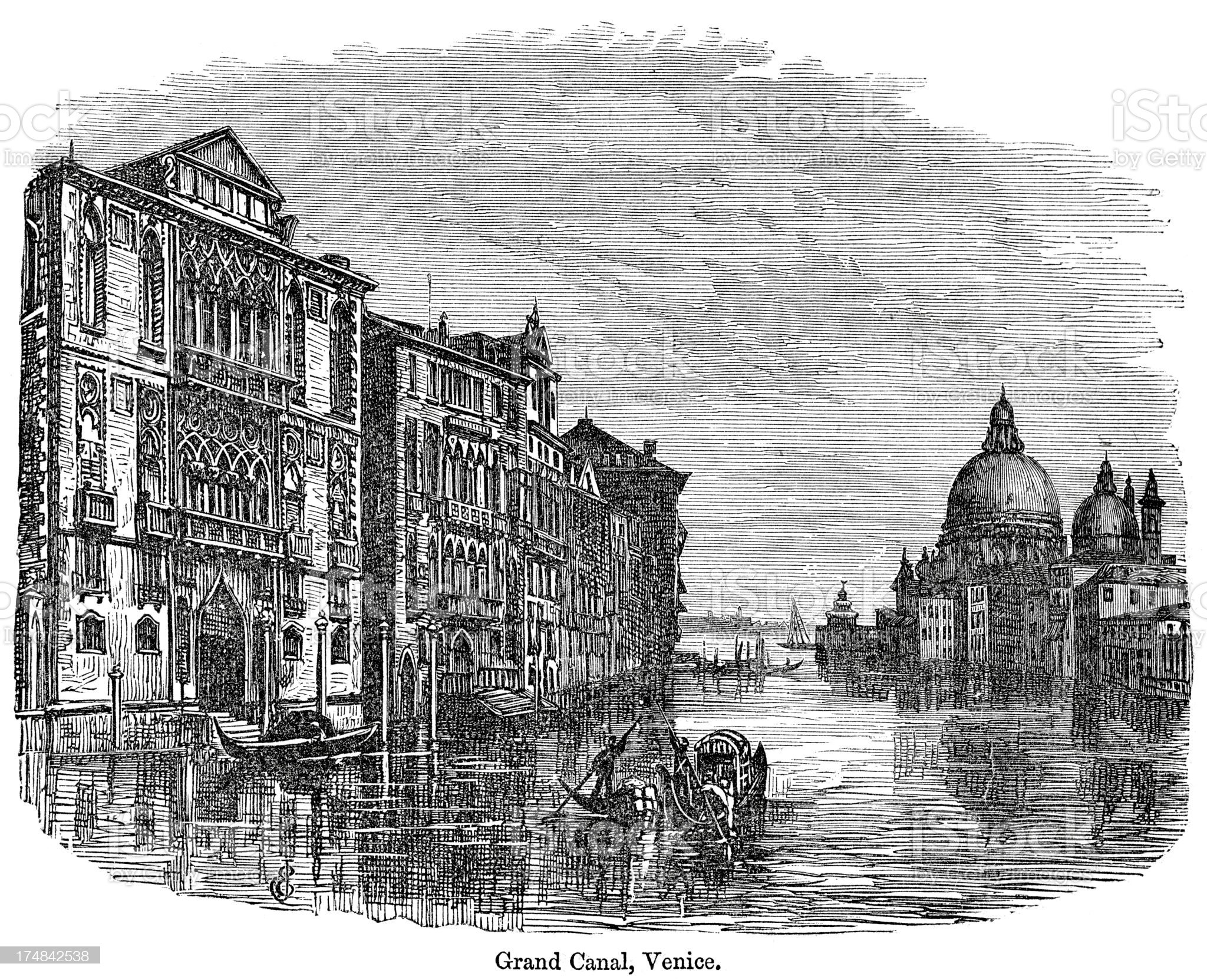 Grand Canal, Venice royalty-free stock vector art