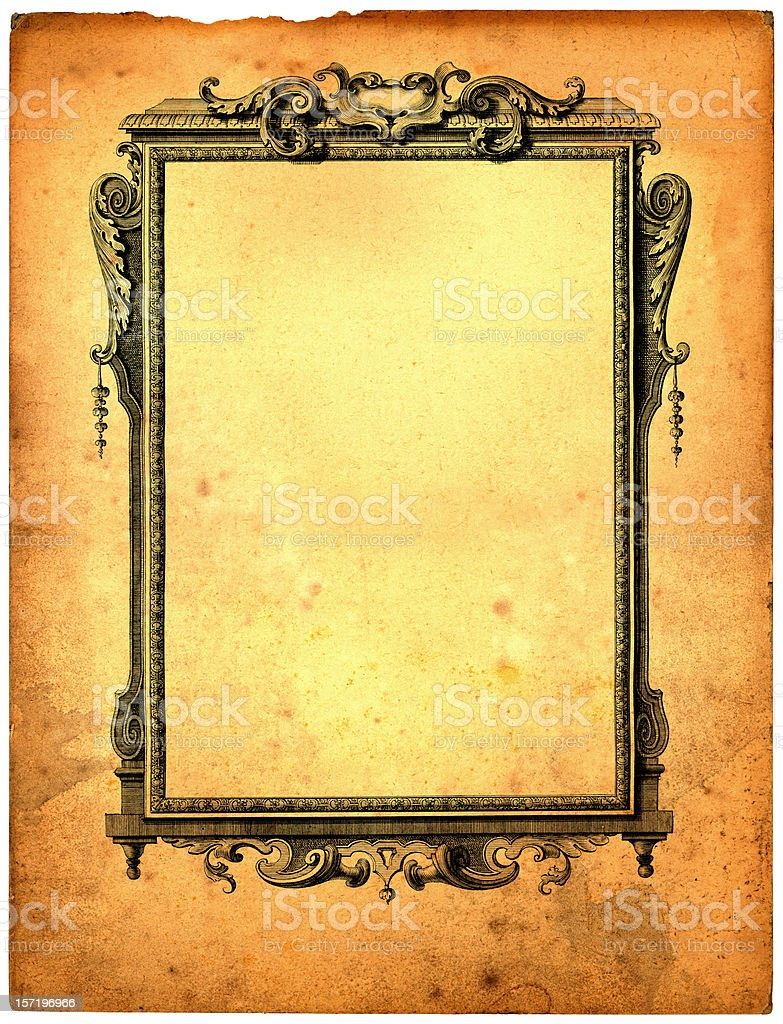 grand old frame royalty-free stock vector art
