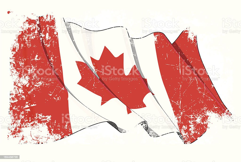 Grange Flag of Canada royalty-free stock vector art
