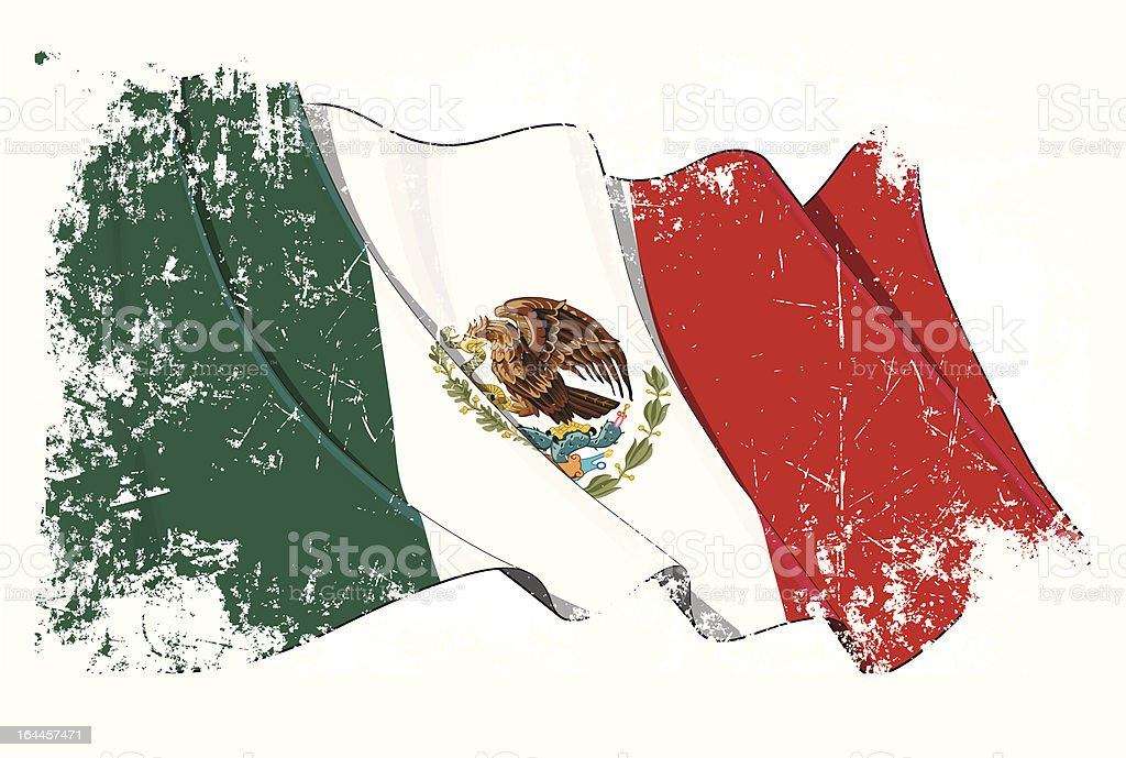 Grange Flag of Mexico royalty-free stock vector art