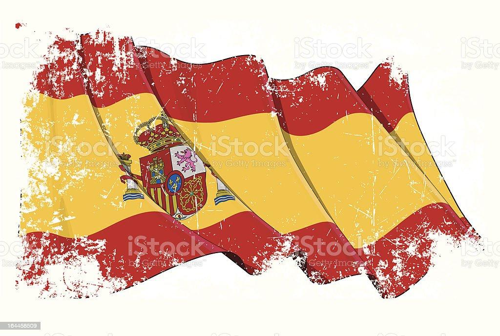 Grange Flag of Spain royalty-free stock vector art