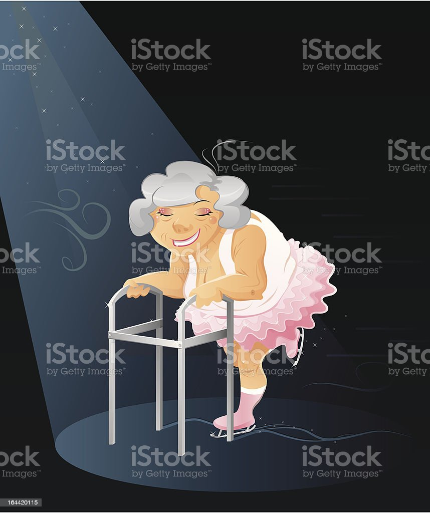 Granny ballerina royalty-free stock vector art