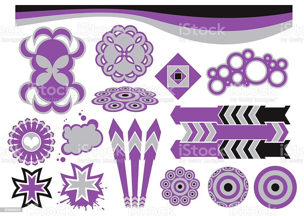 Graphic Elements 3 (Vector) royalty-free stock vector art