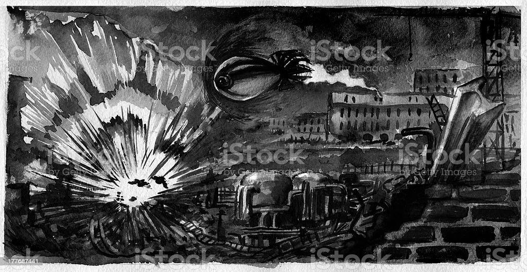 Graphic novel illustration, part seventeen royalty-free stock vector art