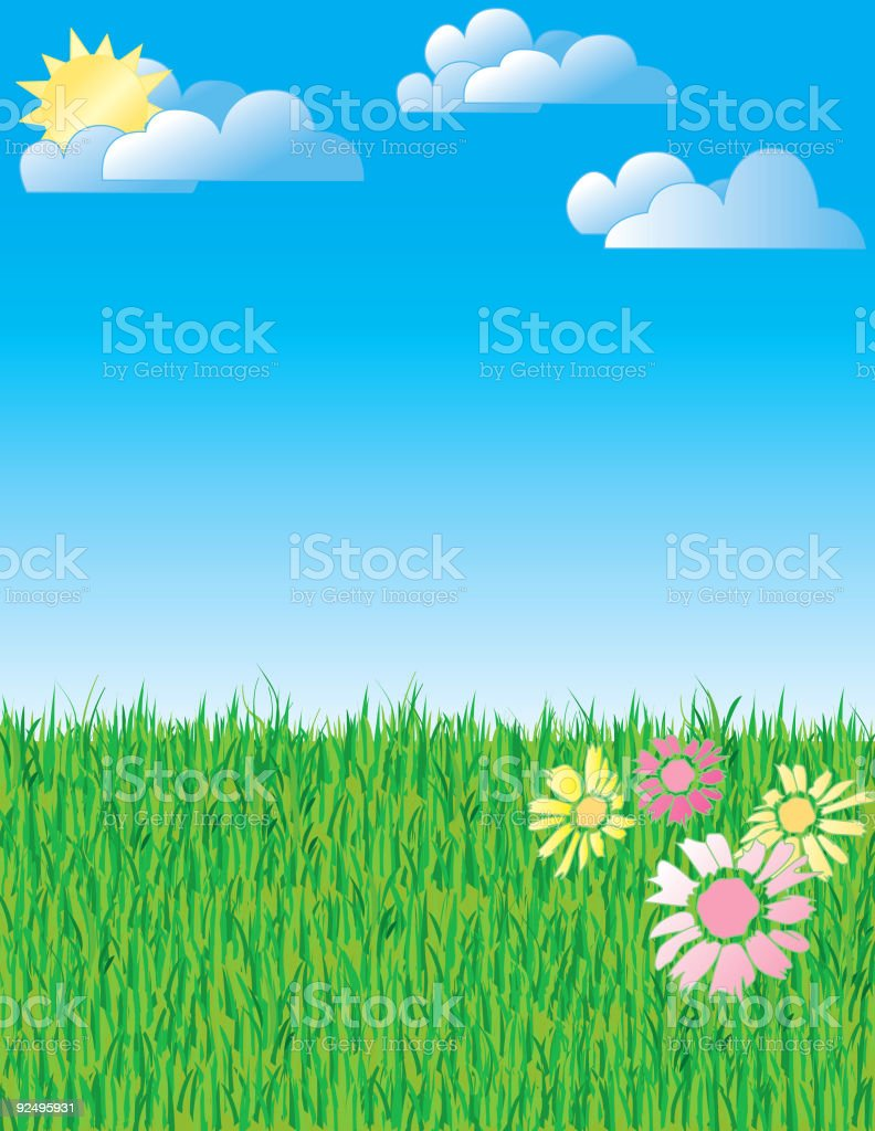 Grass and sky royalty-free stock vector art