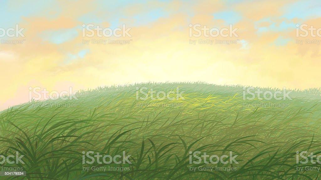 grass field vector art illustration