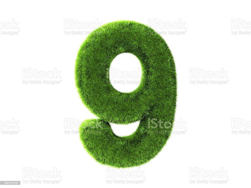 Grass nine royalty-free stock vector art