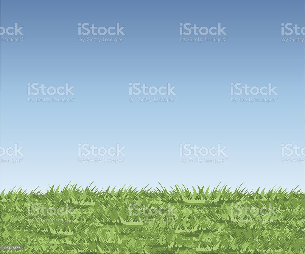 grass sky royalty-free stock vector art