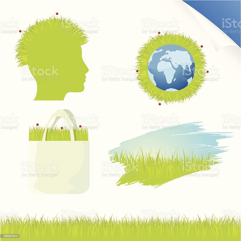 Grassy earth royalty-free stock vector art