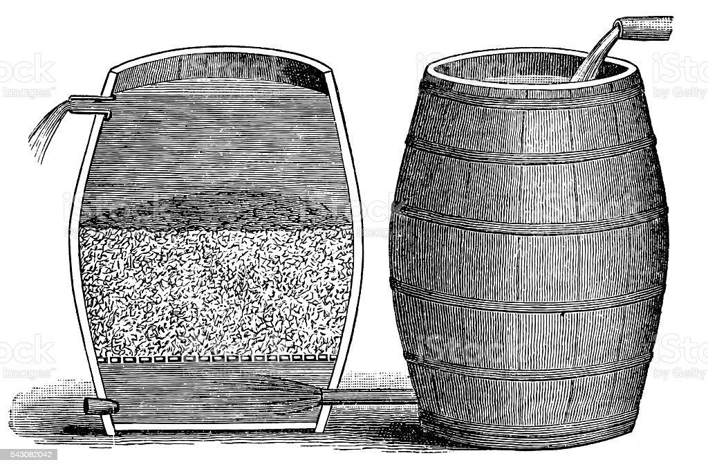 Gravel filter vector art illustration
