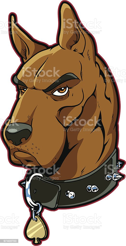 Great Dane royalty-free stock vector art