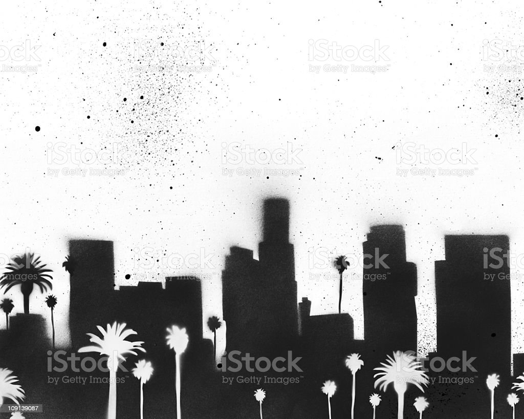 Great Los Angeles Stencilscape vector art illustration