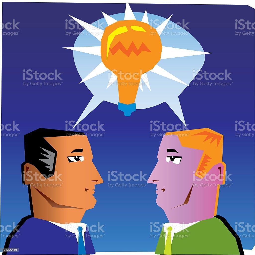 great mutual idea royalty-free stock vector art