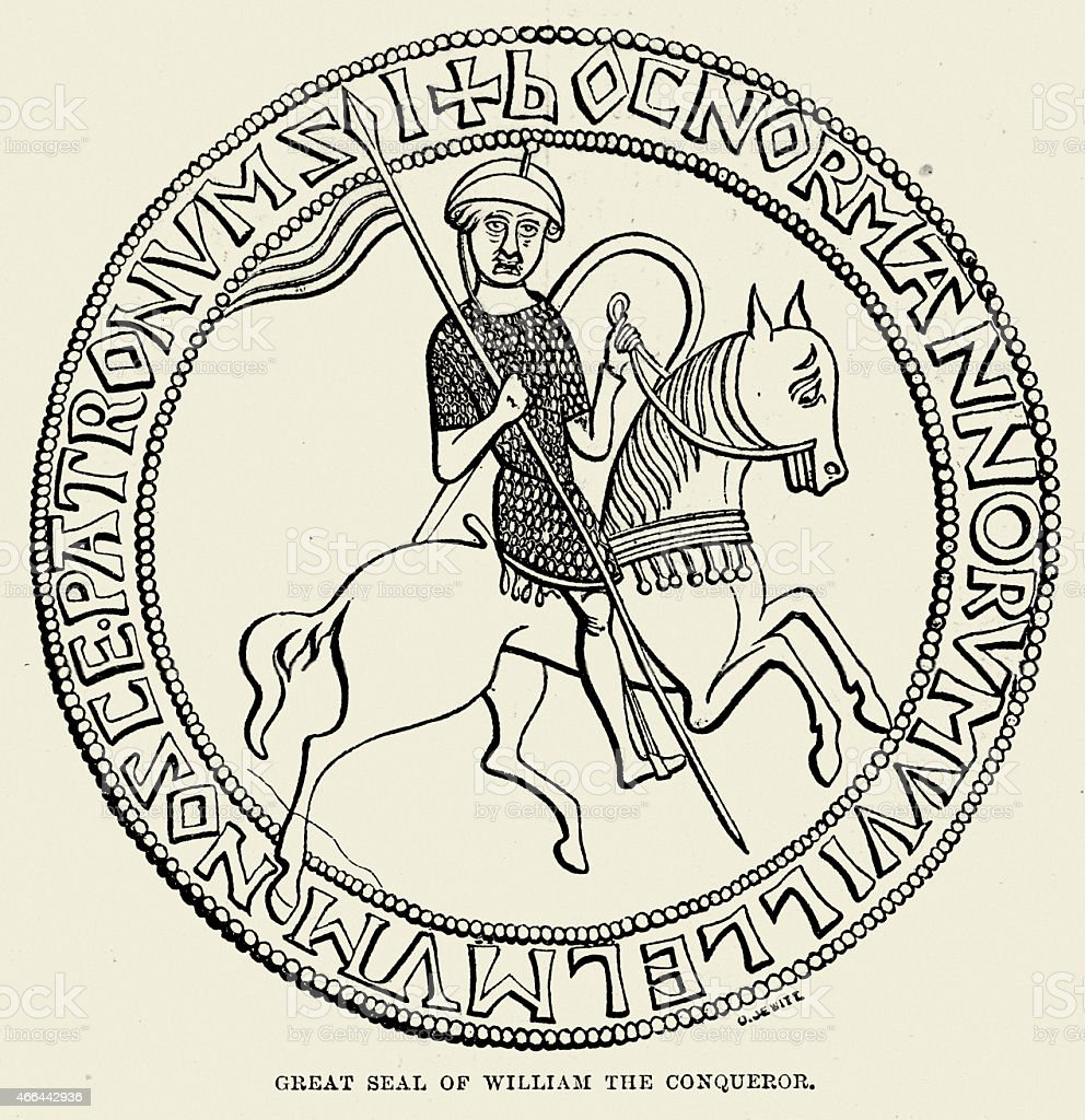 Great Seal of King William the Conqueror vector art illustration