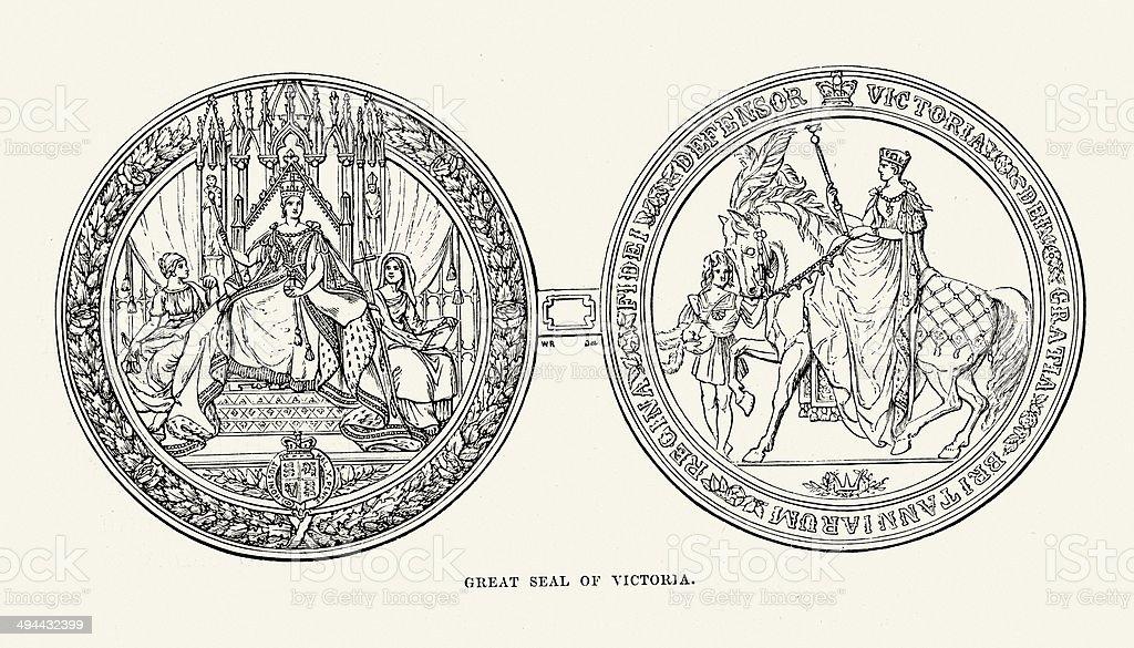 Great Seal of Queen Victoria royalty-free stock vector art