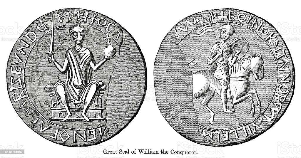 Great Seal of William the Conqueror royalty-free stock vector art