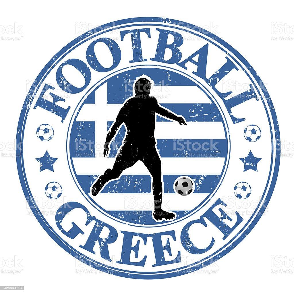 Greece football stamp royalty-free stock vector art