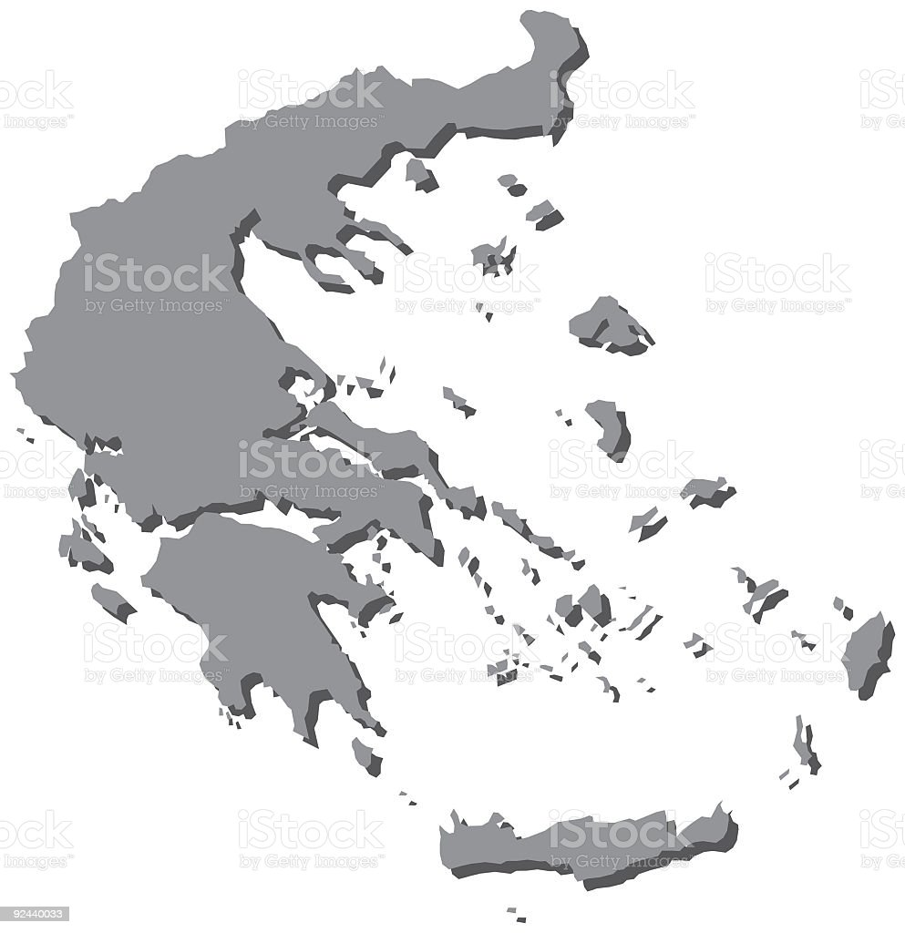 Greece Map Greek Maps royalty-free stock vector art