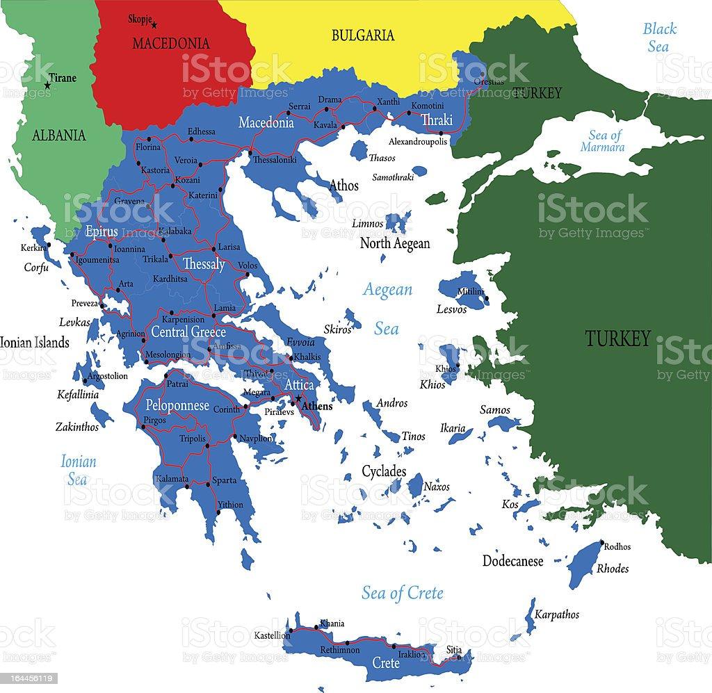 Greece map royalty-free stock vector art
