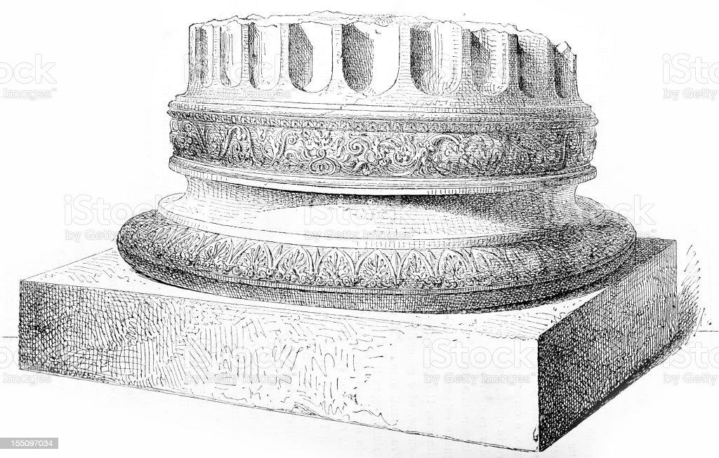 Greek column vector art illustration