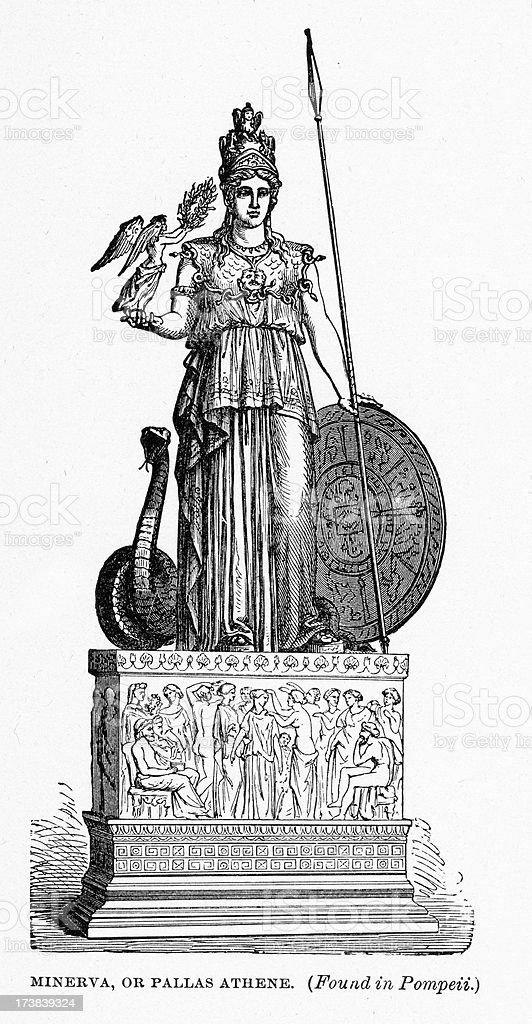 Greek Goddess Athena or Minerva royalty-free stock vector art