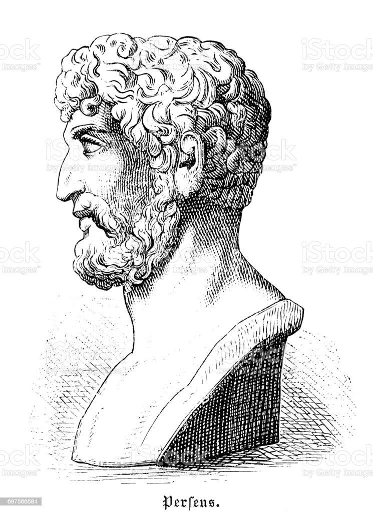 Greek man vector art illustration