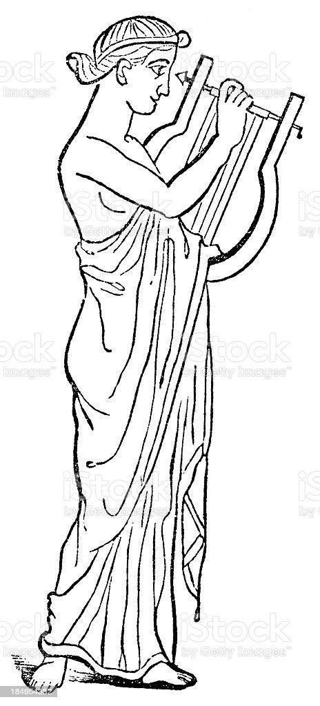Greek Musician vector art illustration