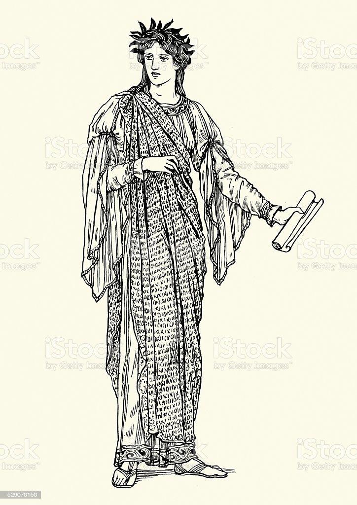 Greek mythology - Clio vector art illustration