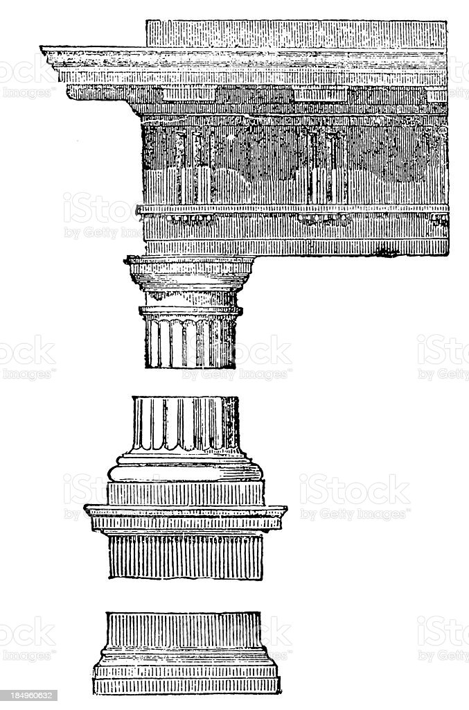 Greek style column royalty-free stock vector art