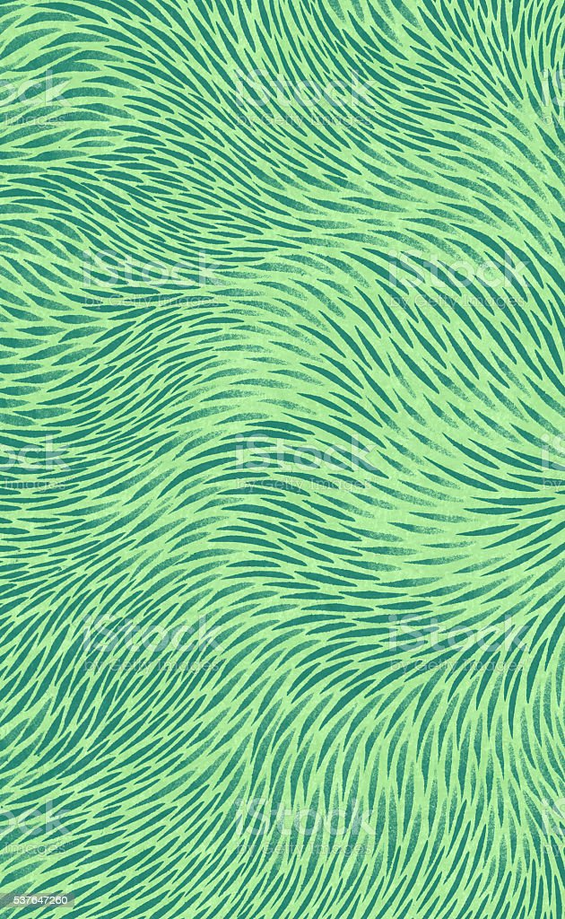 Green Abstract Hand Drawn Brush Stroke Background Wavy Flow Pattern vector art illustration