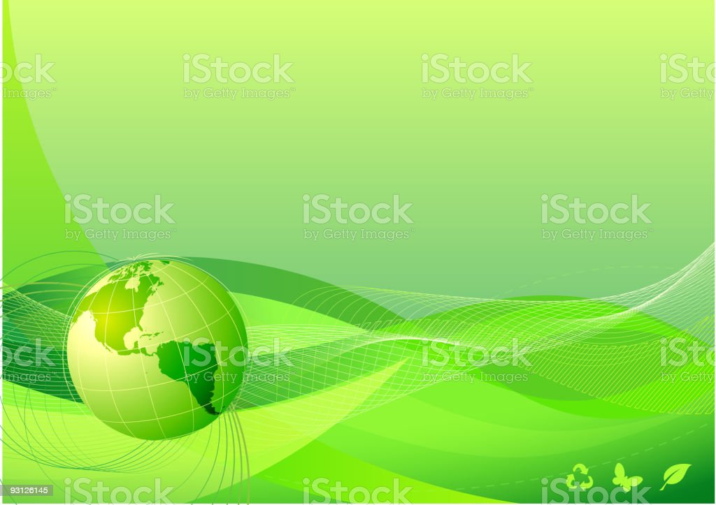 green abstract lines background royalty-free stock vector art