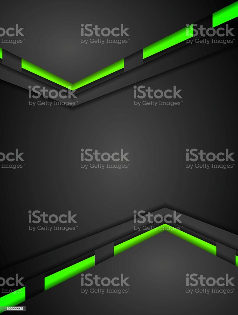 Green and black contrast gradients tech design vector art illustration