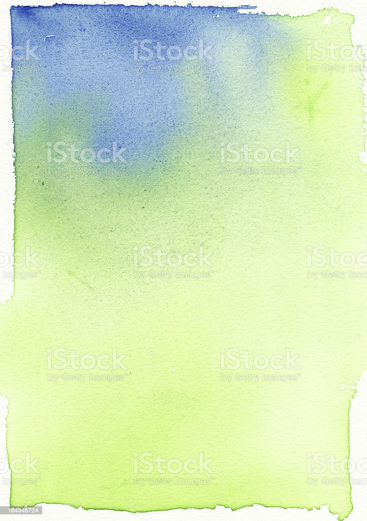 Green and Blue Background  Soft Blend Watercolor Paiting royalty-free stock vector art