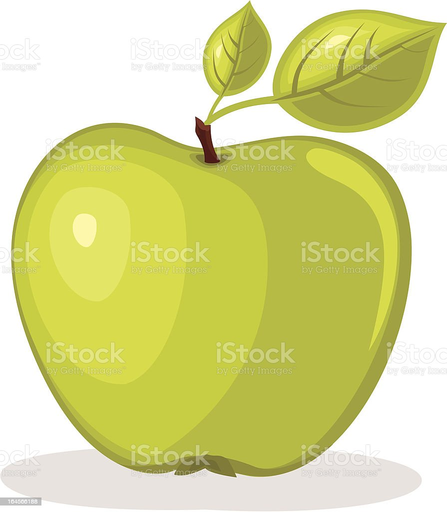 Green apple vector illustration vector art illustration