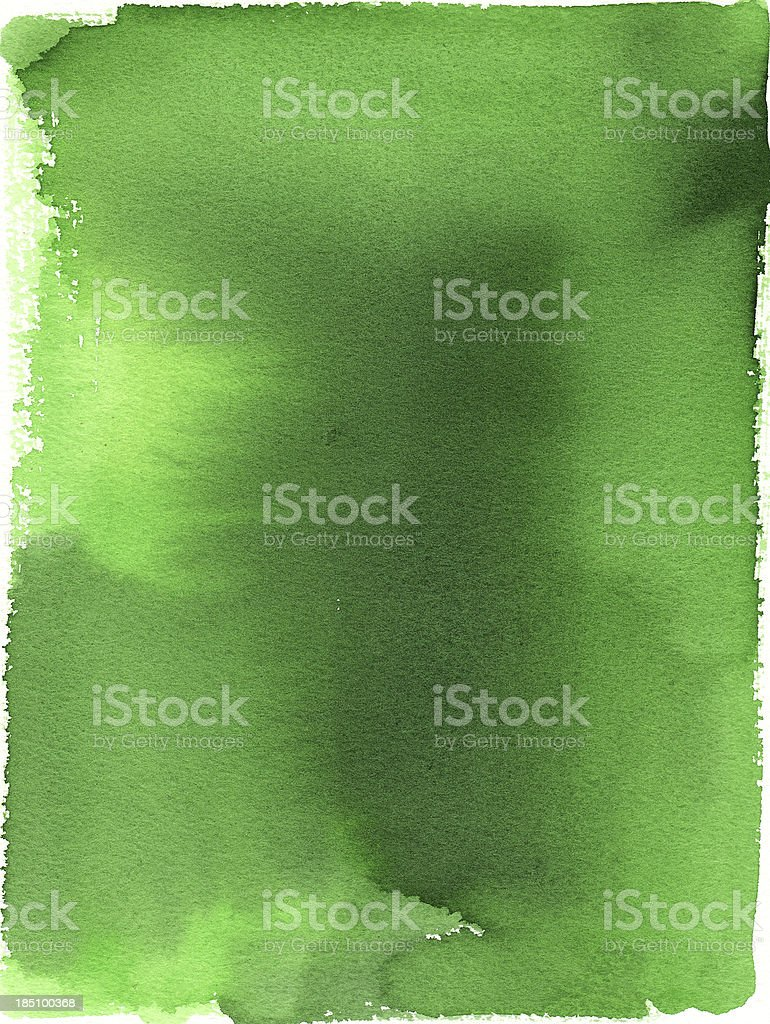 Green Background Watercolor Painting royalty-free stock vector art